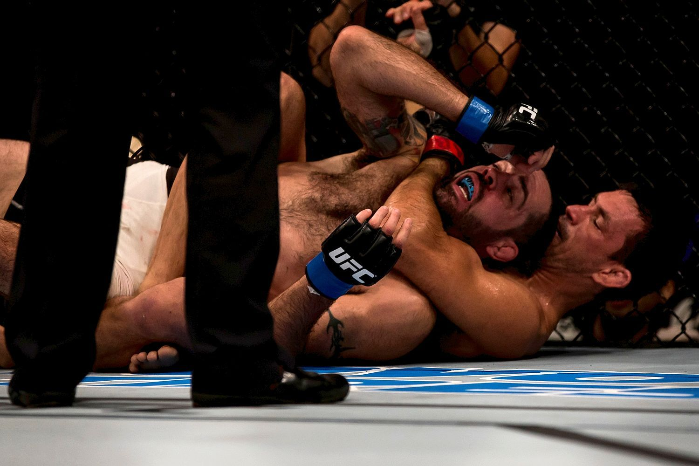 Submitting Matt Brown at UFC 198