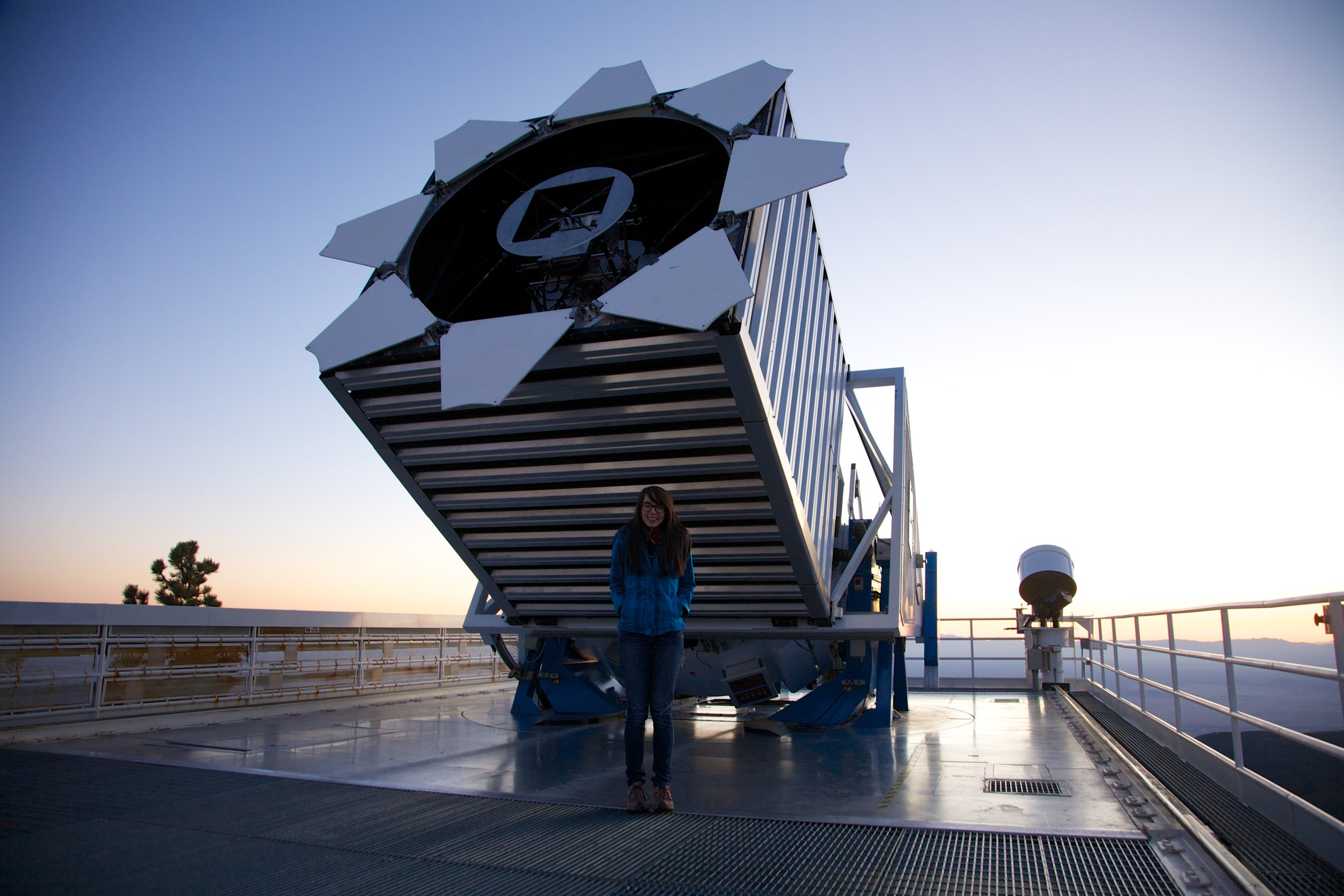 At the   SDSS   telescope, February 2012. Photo credit: Stéphane Courteau
