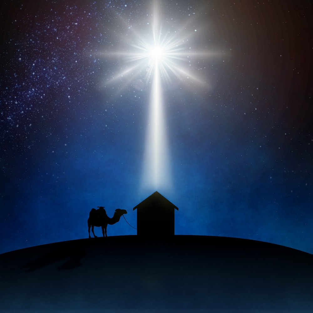A depiction of the Star of Bethlehem. Image credit:  Garrett W.  /  CC BY