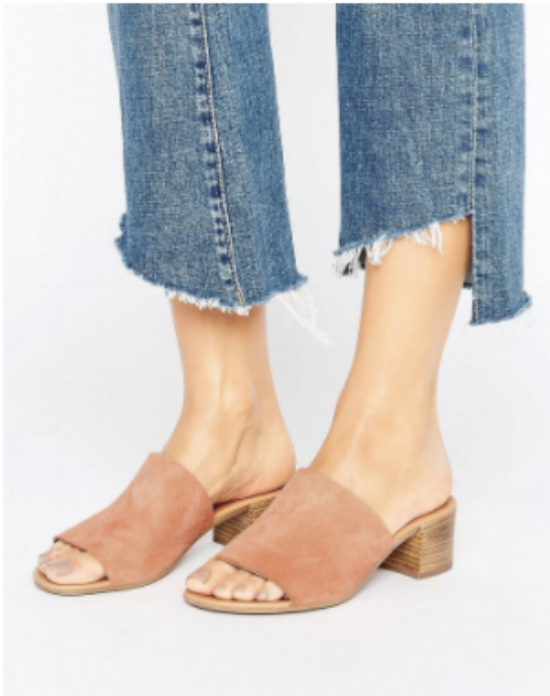 ASOS Leather Mules
