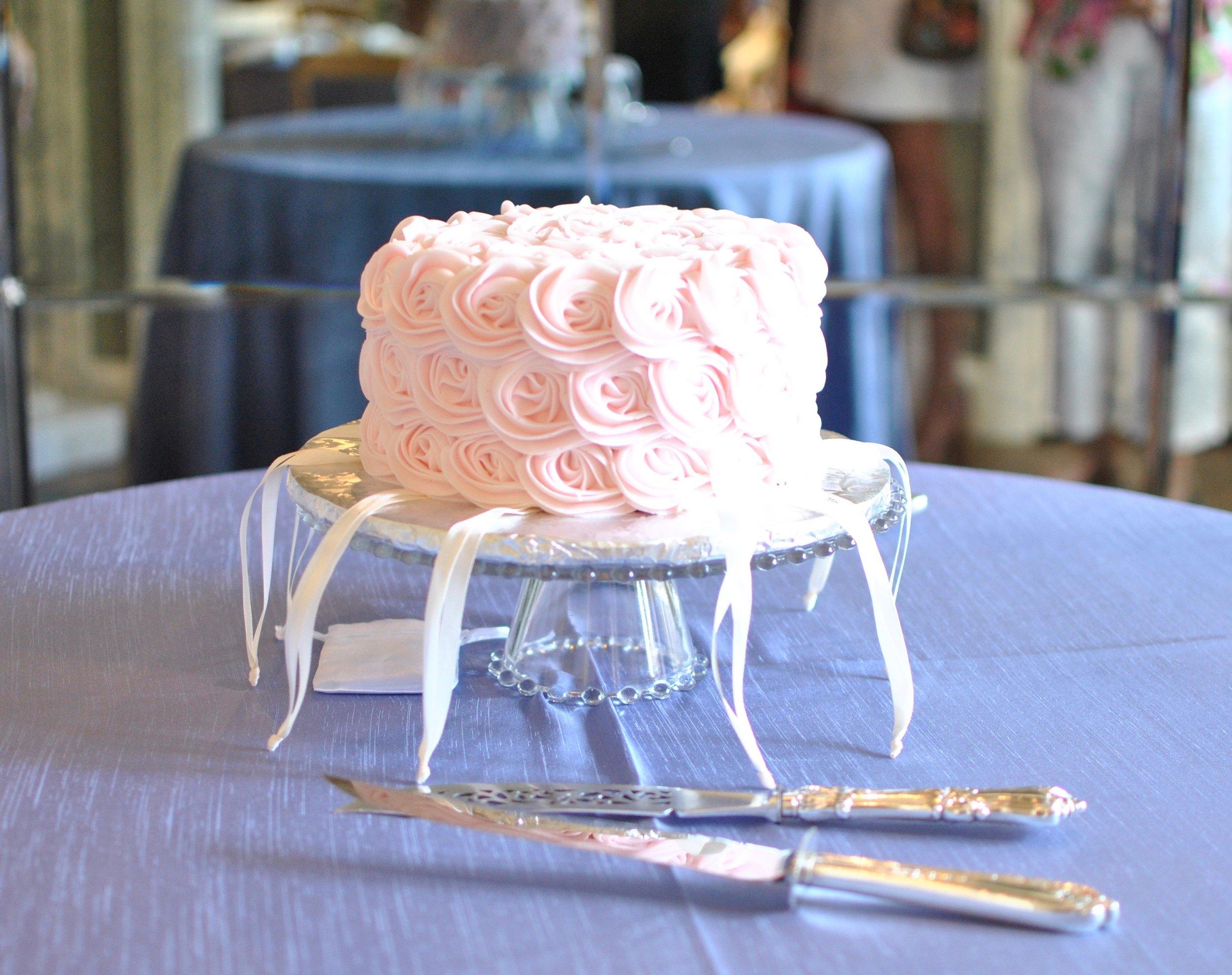 Bridesmaids cake from Main St. Cakes in Burlington