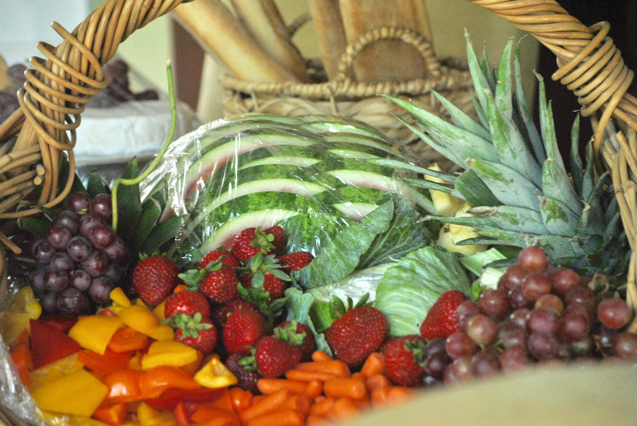 Fruit and Veggie basket for wedding