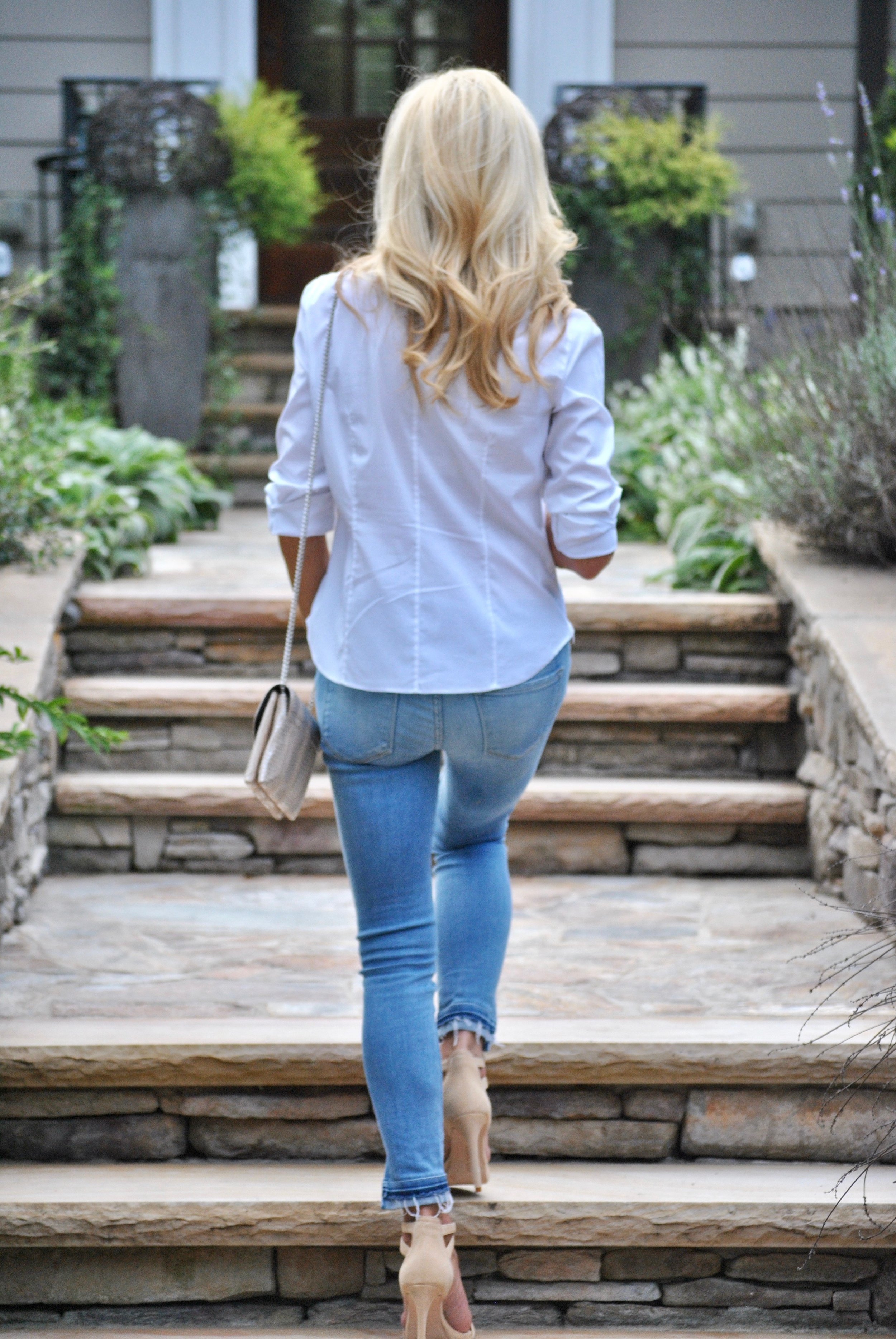Basic White Blouse and Jeans