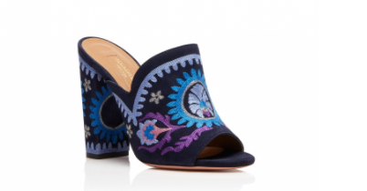 I think these  Aquazurra mules  are gorgeous!