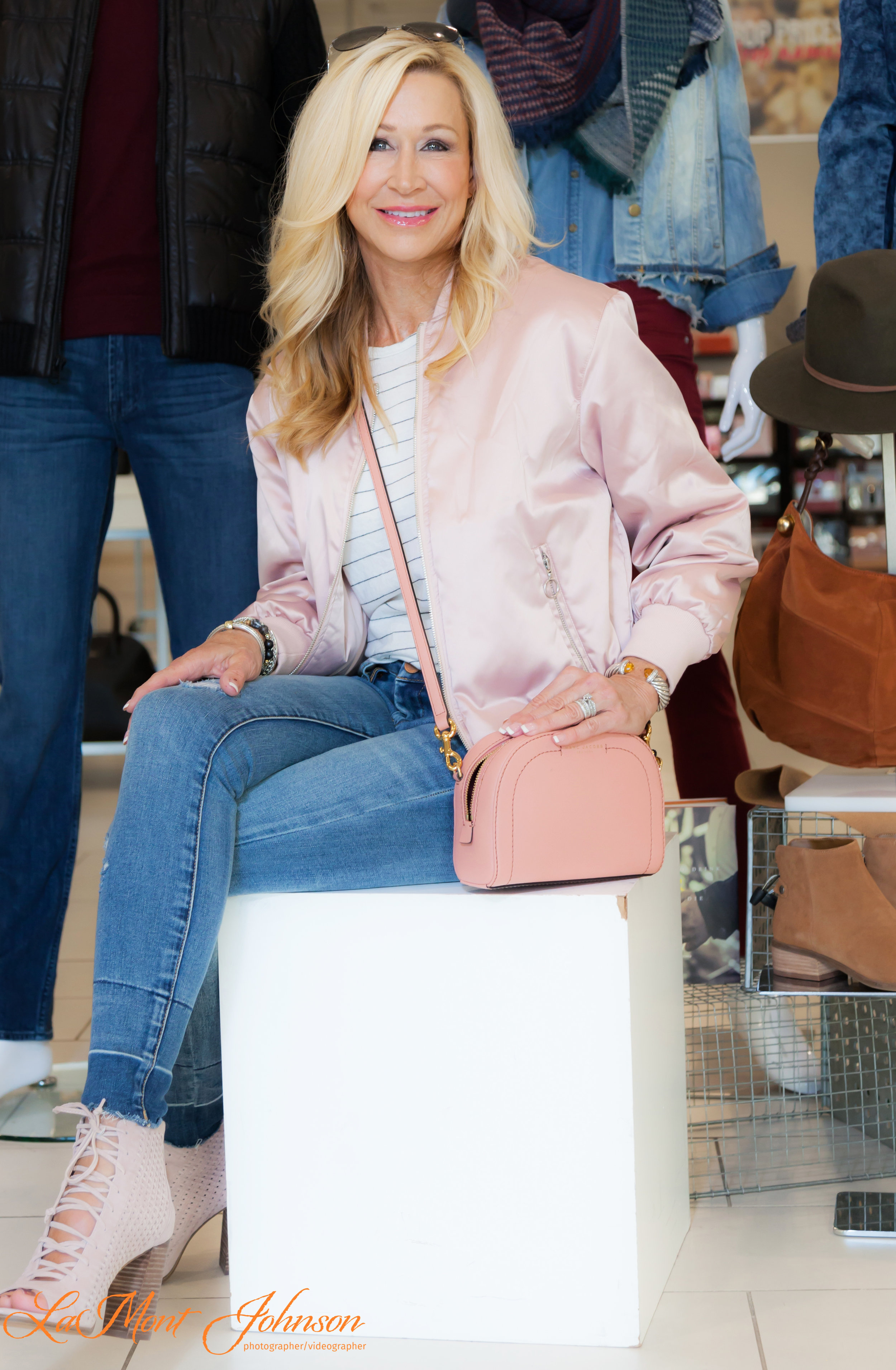 Fall Transitional Outfit with Millennial Pink