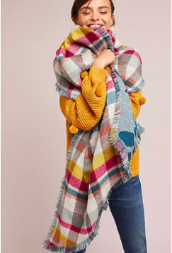 Anthropologie Reversible Wrap Scarf  - 58.00