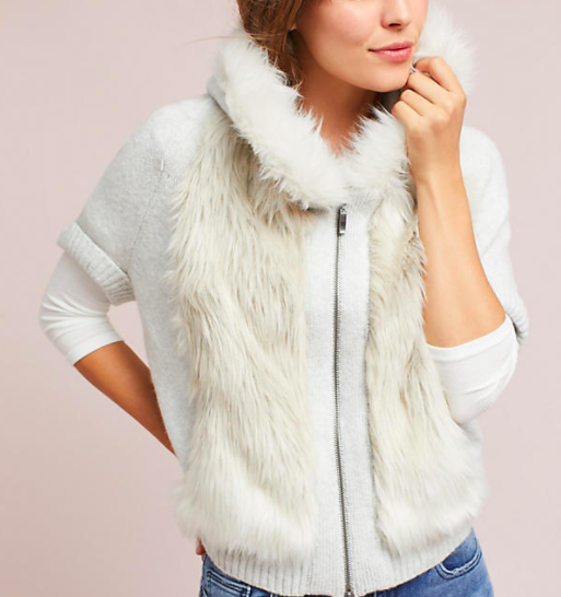 Hooded Faux Fur Sweater - 168.00