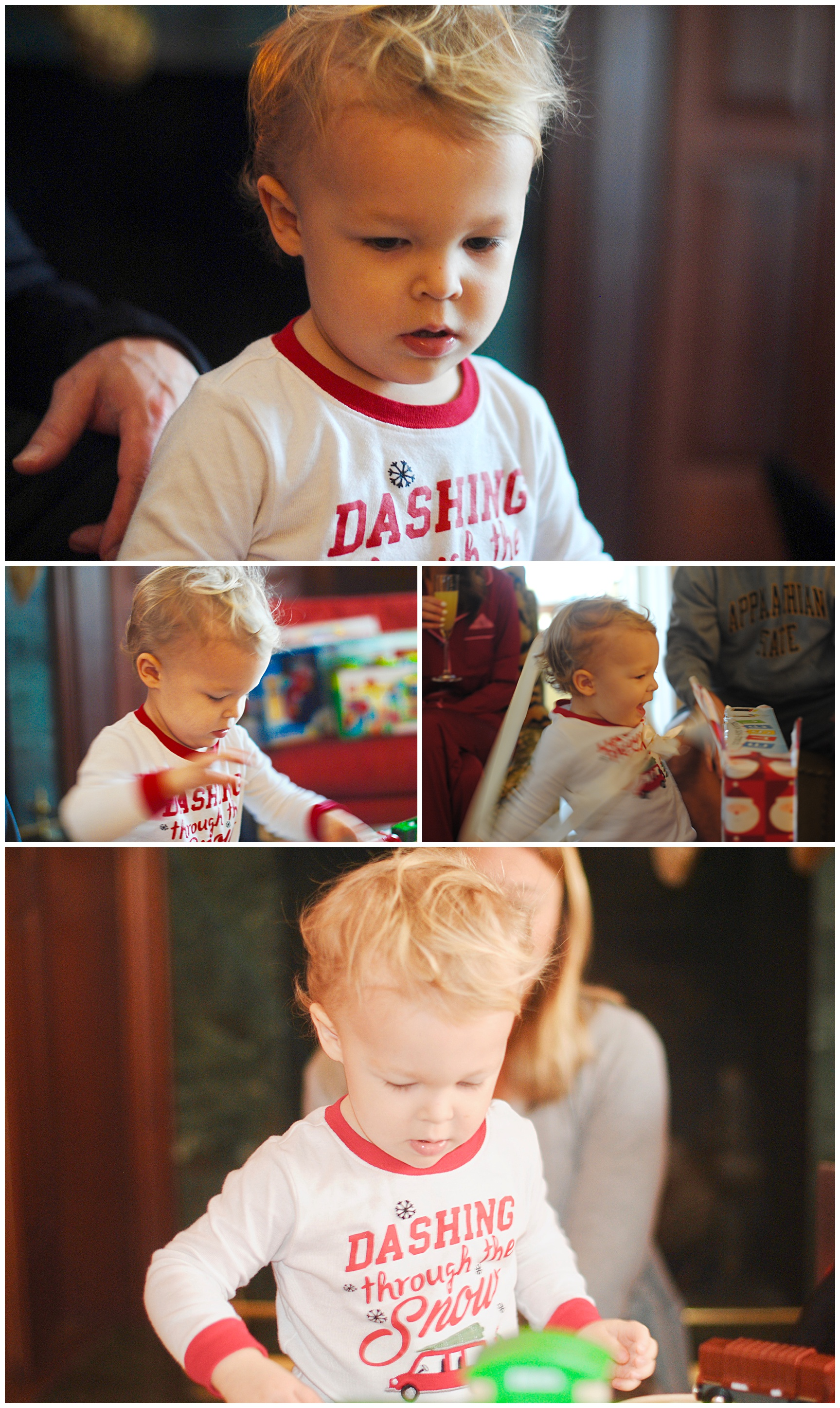 Hudson on Christmas Morning