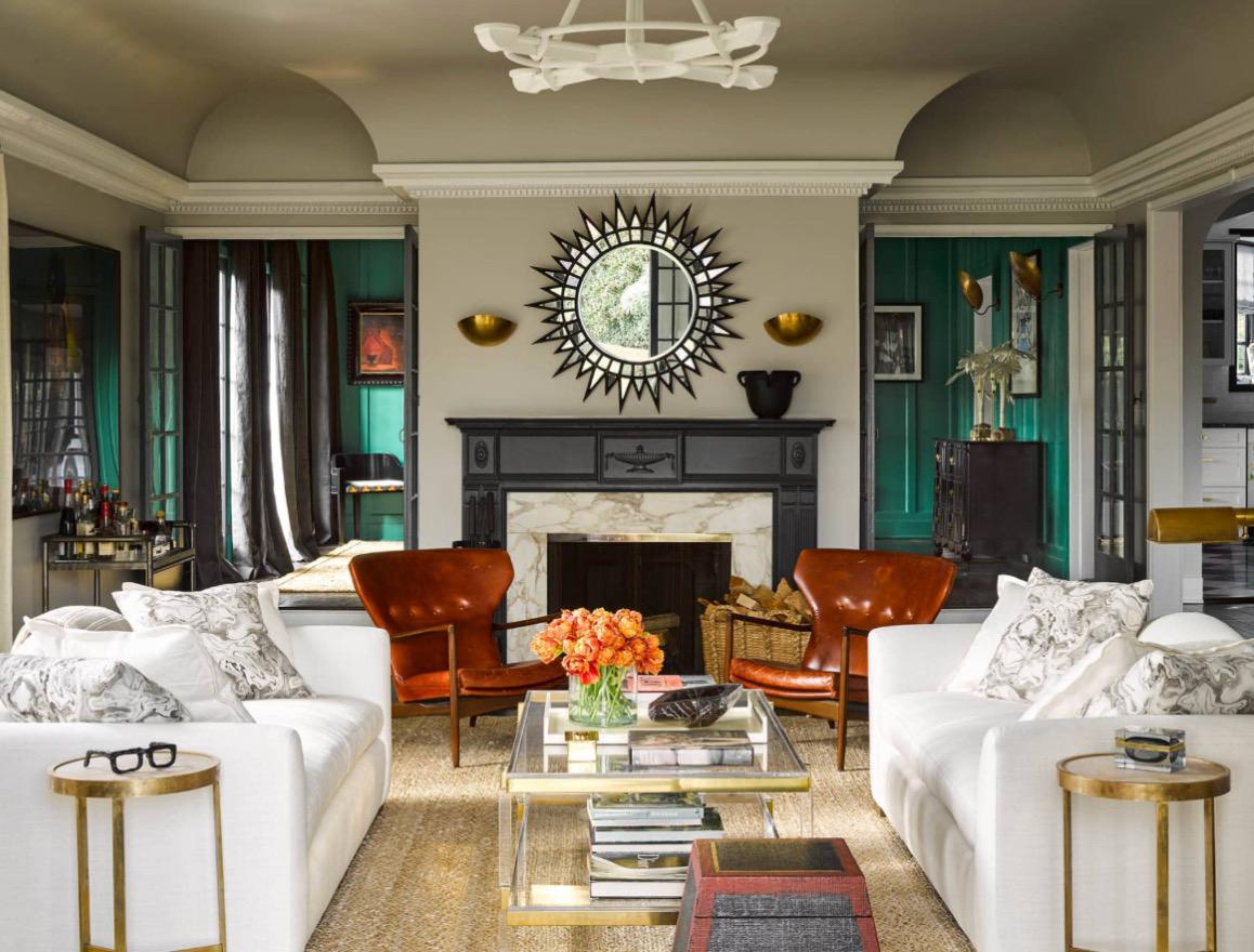 Room designed by Georgia Tapert Howe in Elle Decor Magazine