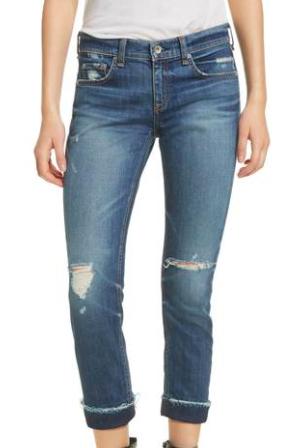 Rag and Bone Slim Boyfriend Jeans - $250.00