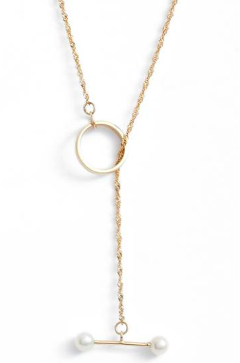Pearl Toggle Necklace - $280.00