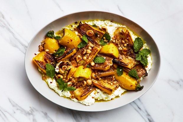 marinated-zucchini-with-hazelnuts-and-ricotta-recipe-BA-060518.jpgMarinated Summer Squash with Hazelnuts and Ricotta