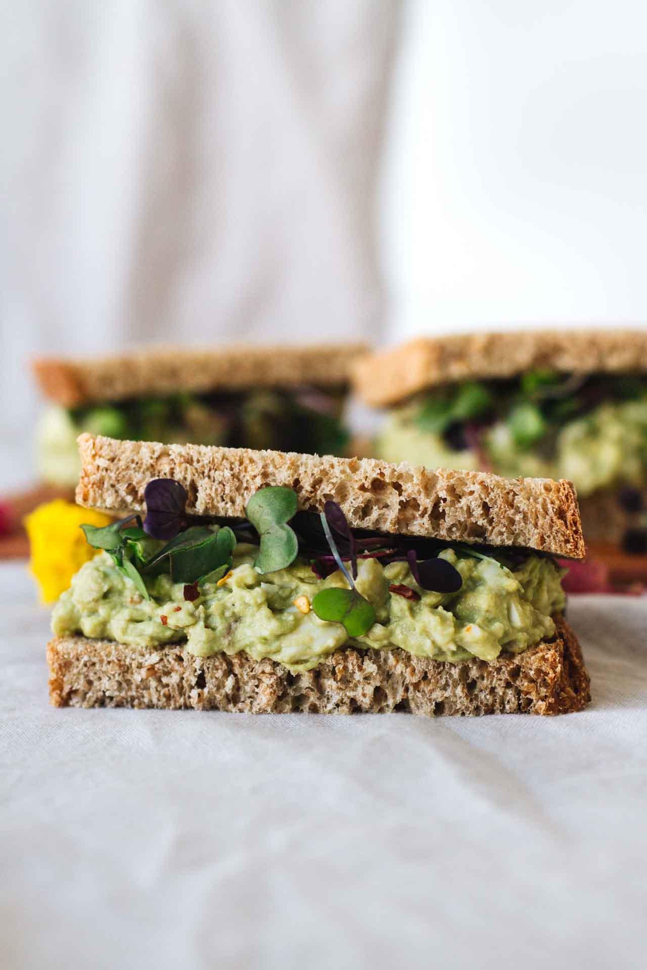 Avocado Egg Salad Sandwiches