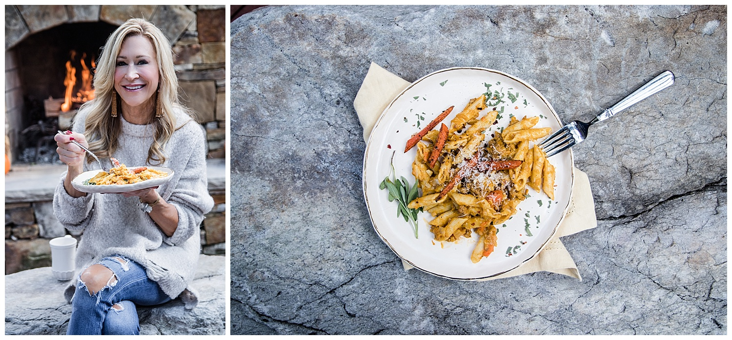 Penne with Sausage, Pumpkin and Fennel