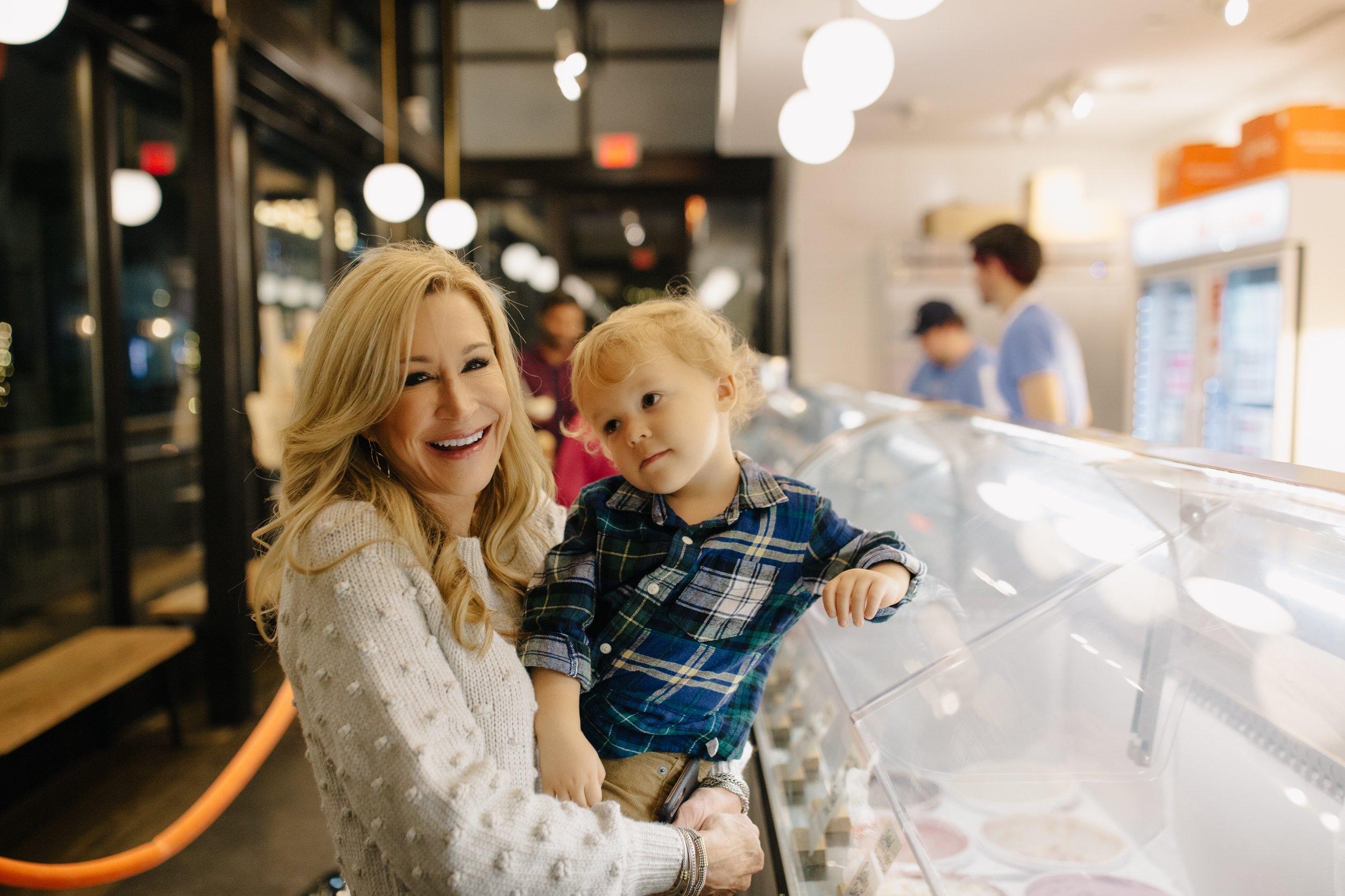 Having ice cream at Jeni's - Crazy Blonde Life