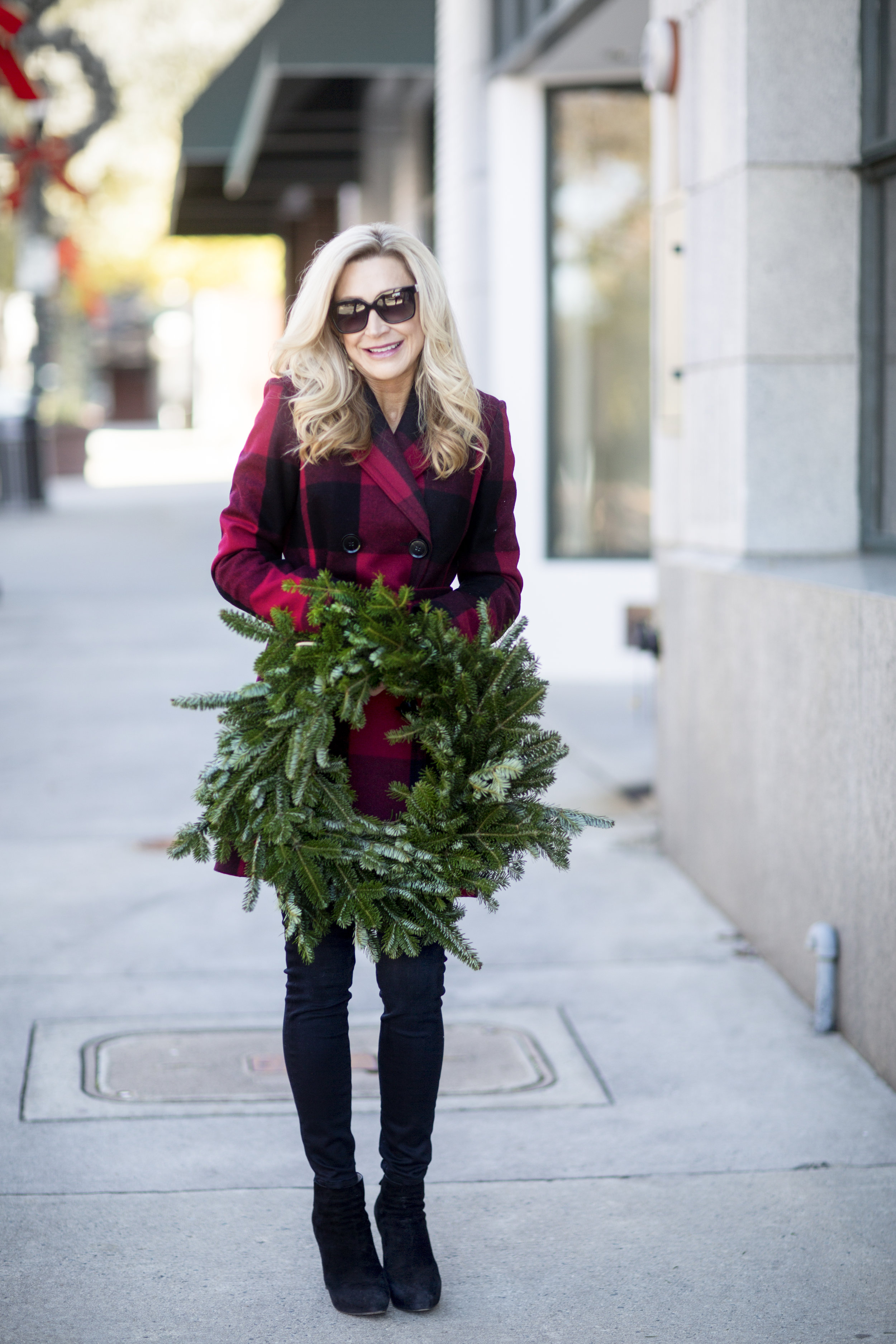 Red Plaid for the Holidays - Crazy Blonde Style