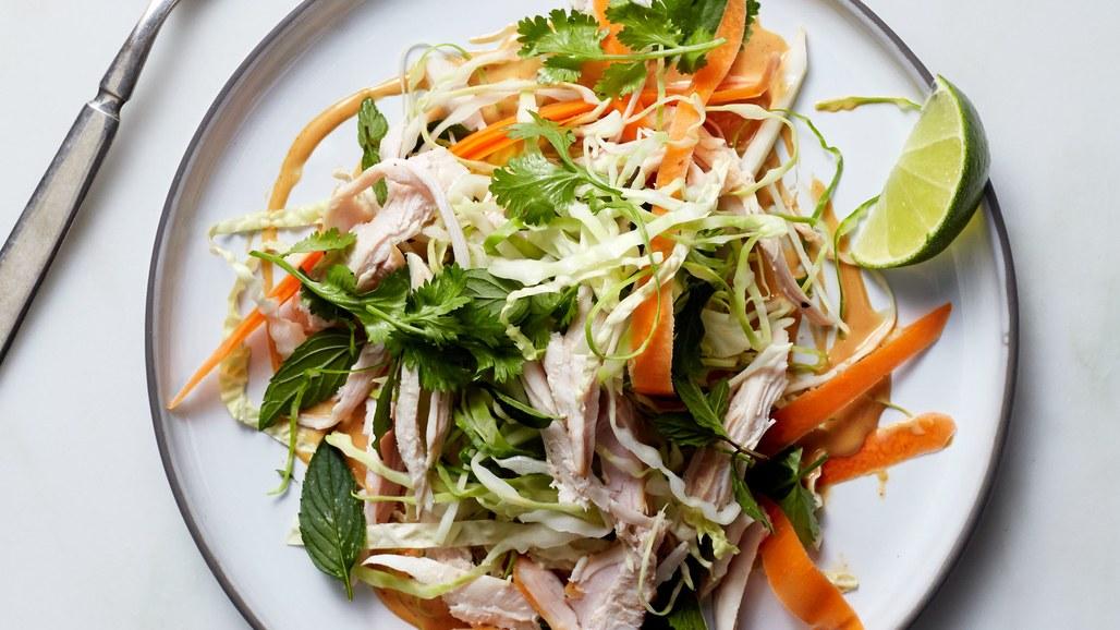 Crunch Turkey Salad with Peanut Dressing