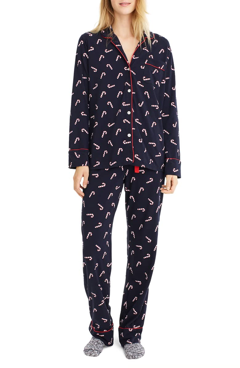 J Crew Candy Cane Dreamy Pajamas - Perfect for a lazy Christmas morning!