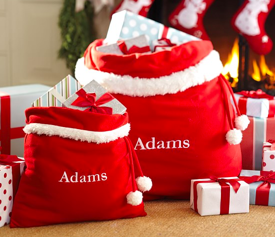 Personalized Santa Bag - I love the idea of having a Santa bag for each of my grandsons!