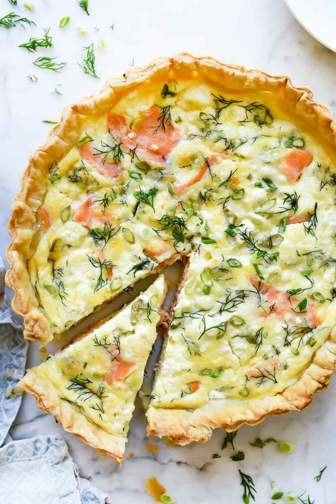Puff Pastry Smoked Salmon & Goat Cheese Quiche