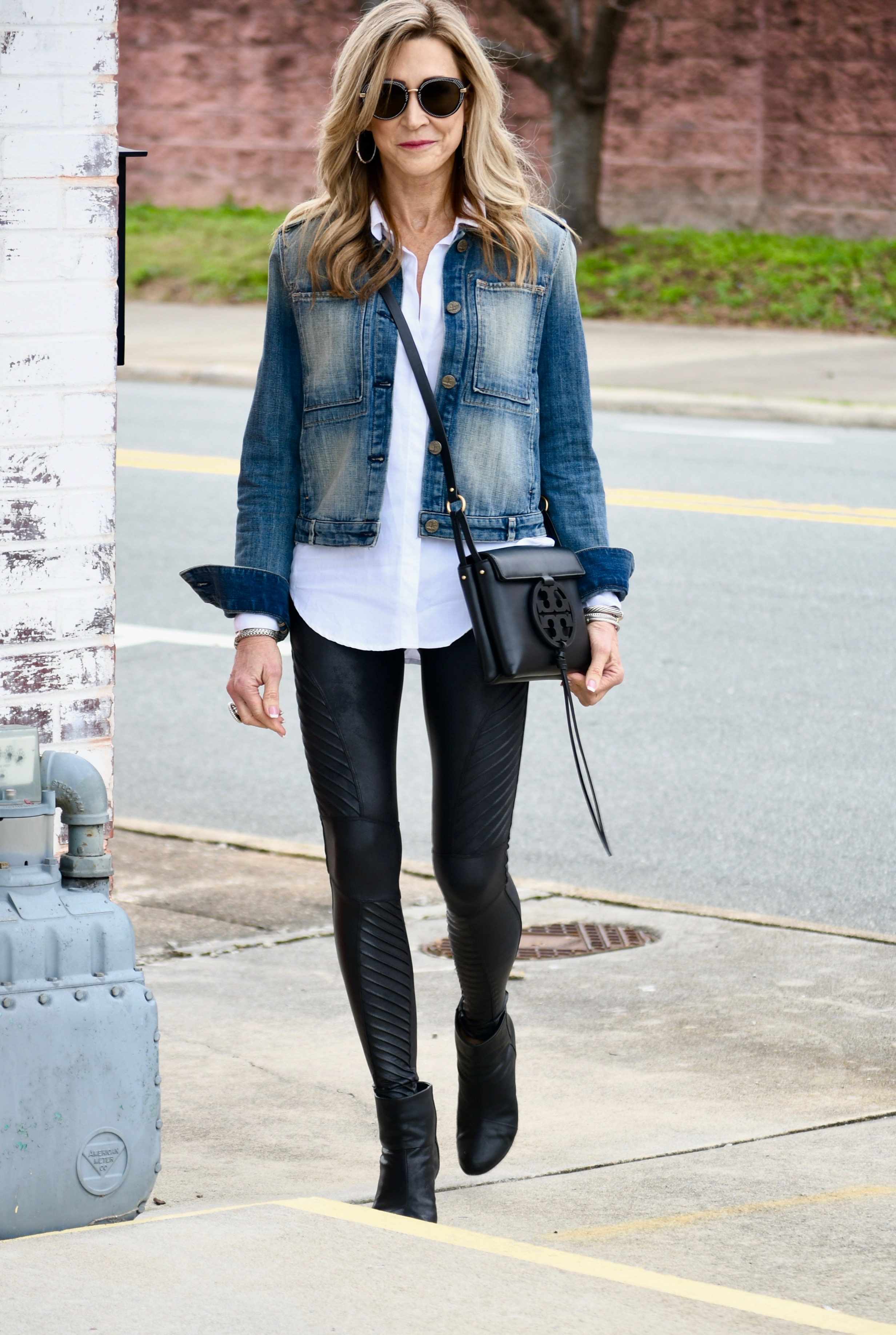 Spanx Leather leggings - Crazy Blonde Style