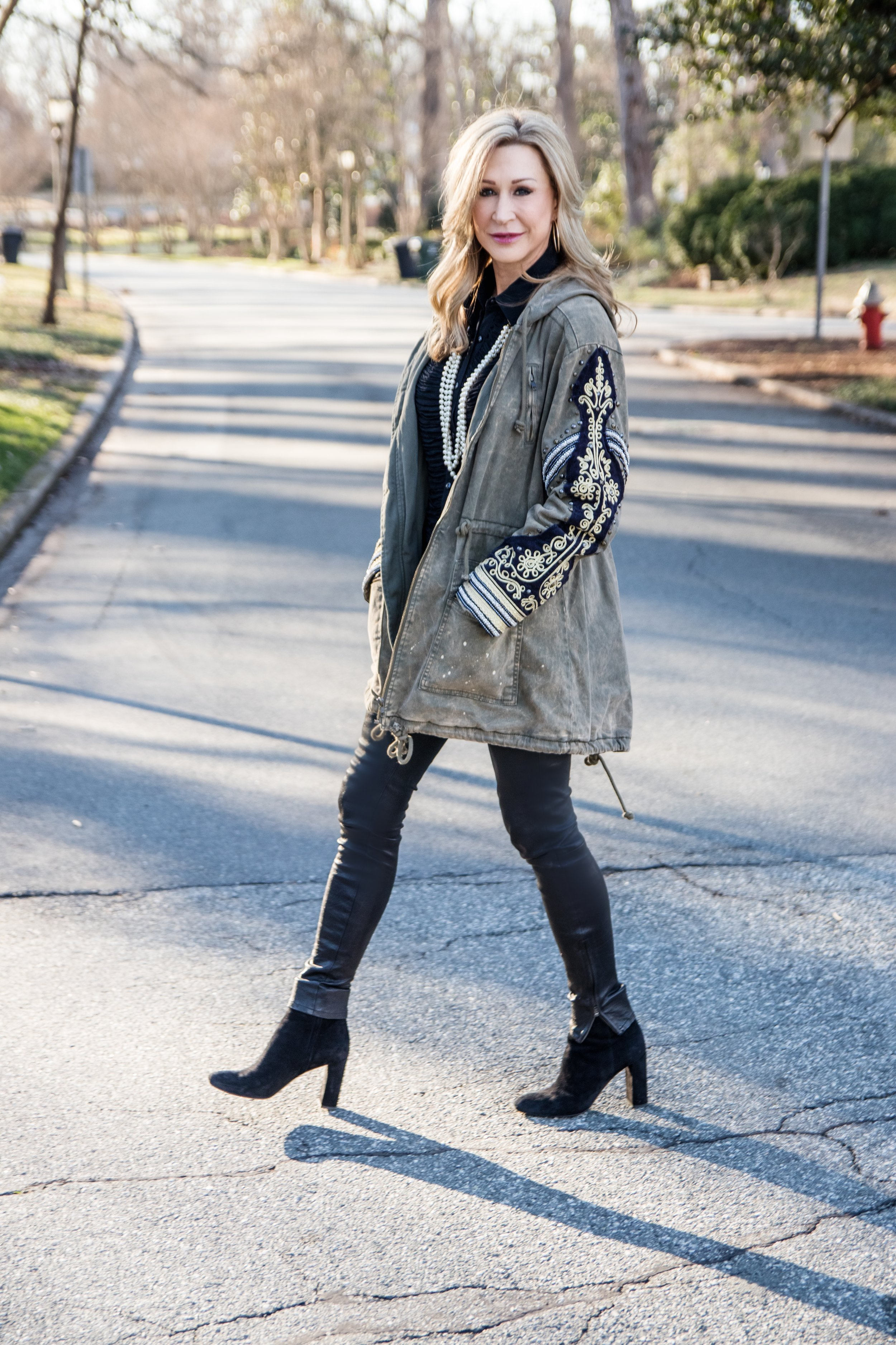 Embellished military jacket from Free People