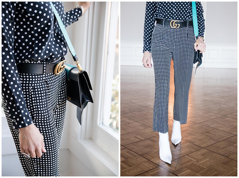 Prada bag, Equipment pants and Gucci belt