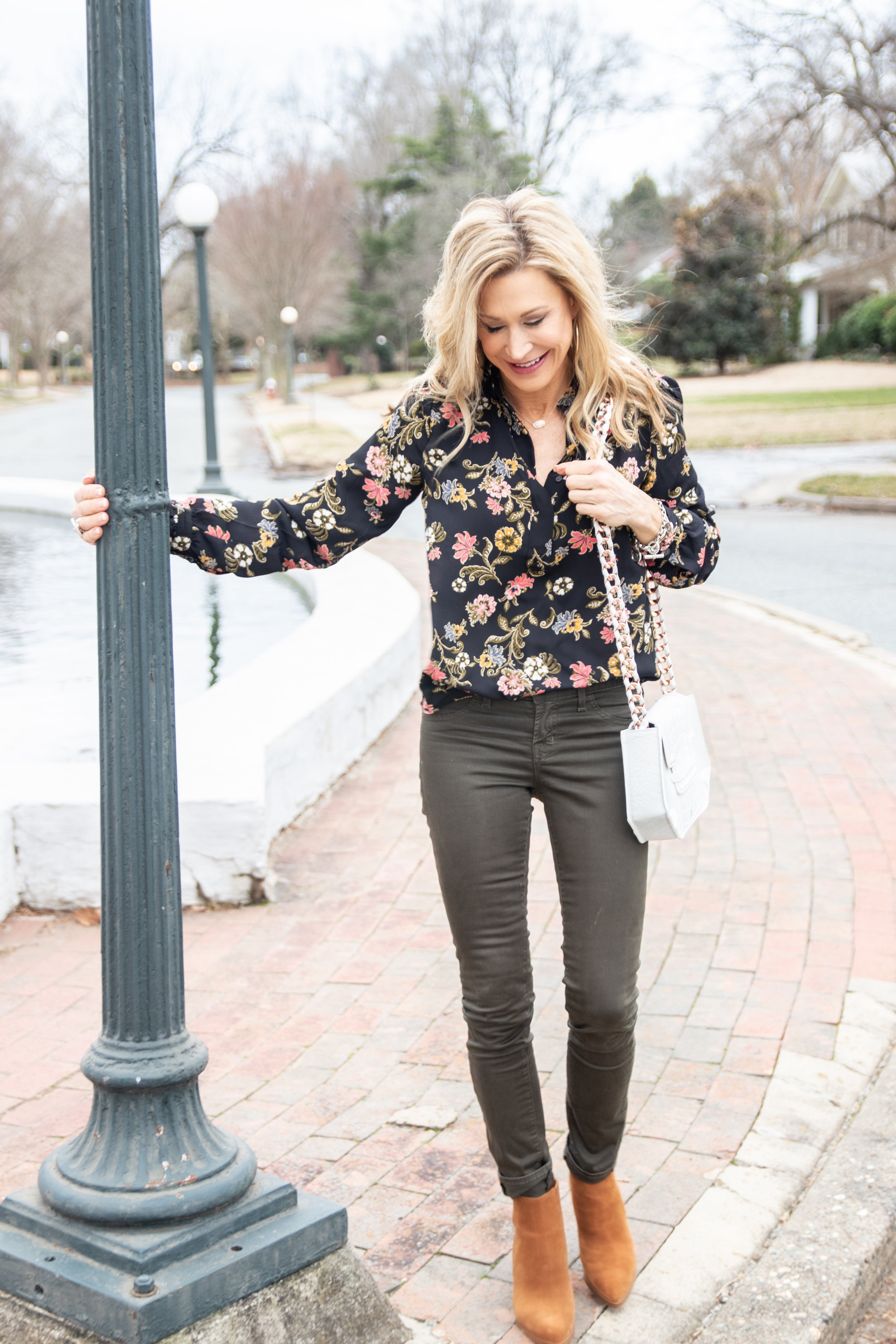 Loft Blouse with Marc Fisher Booties