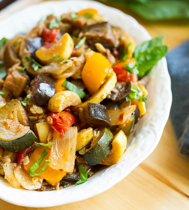 Slow Cooker Ratatouille from Eating Bird Food