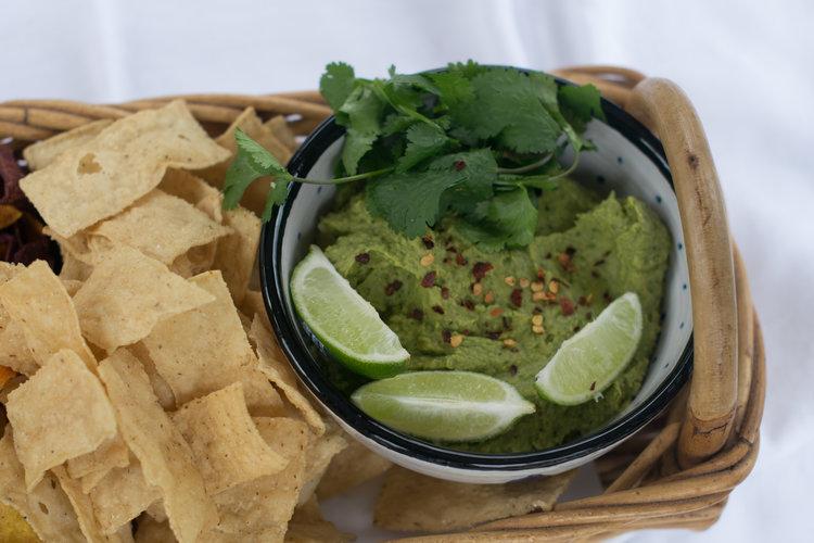 Spicy Cilantro Hummus - Perfect summertime snack!