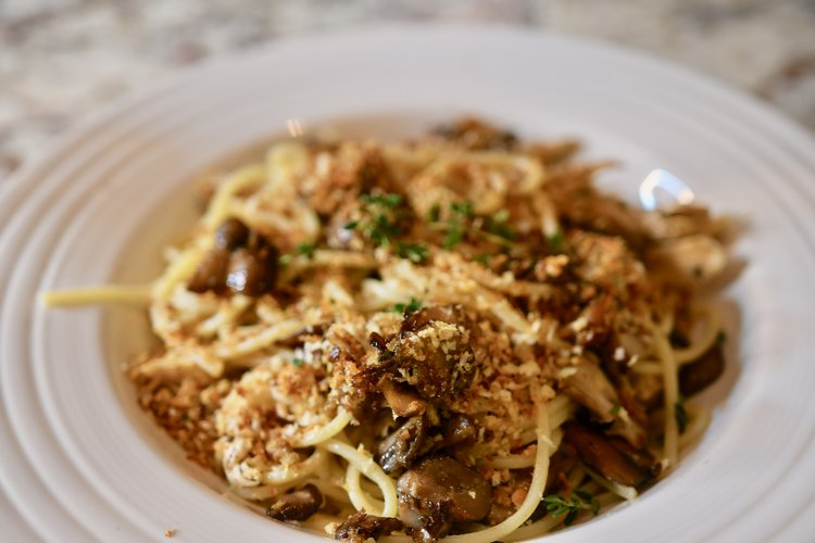 Brown Butter Mushroom & Chicken Pasta -