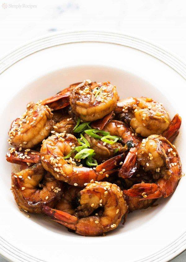 Ginger Sesame Garlic Shrimp - Recipe from Simply Recipes