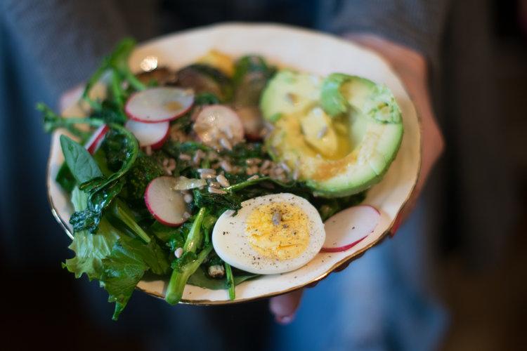Hummus & Greens Bowl - So Healthy!