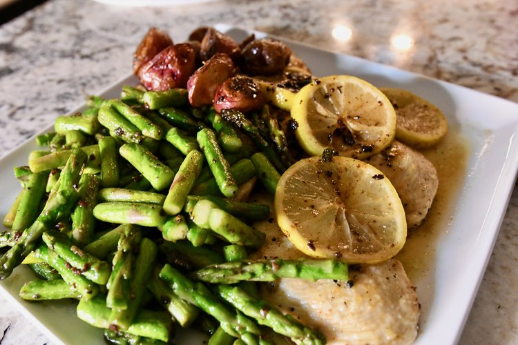 Lemon Chicken with Asparagus -