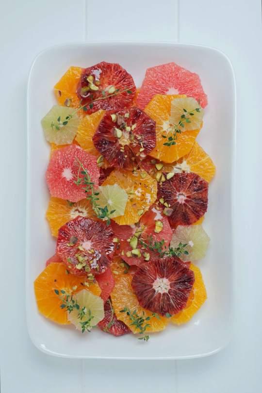 Citrus Salad with Manuka Honey & Pistachio - Recipe from Healthy Chef