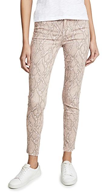 j brand high rise crop skinny jeans