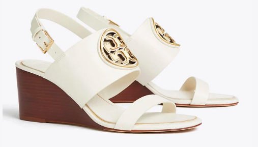 Miller LeatherLogo Wedge Sandal - Tory Burch