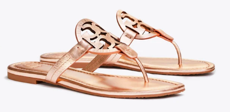 Miller Metallic Sandal - Tory Burch