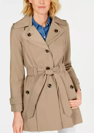London Fog Hooded Trench Coat - Macy's
