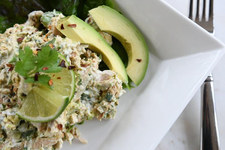 Chicken and Avocado Salad - Crazy Blonde LIfe