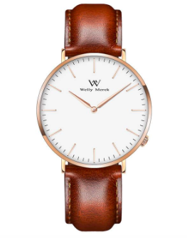 Welly Merck - Swiss Movement Leather Watch Use Code WMSuzanne50 for $50 off a Welly Merck Watch!