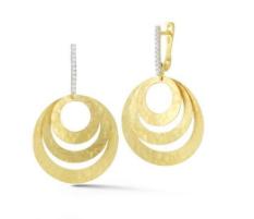 14K Gold Circle Dangle Earrings - I Reiss