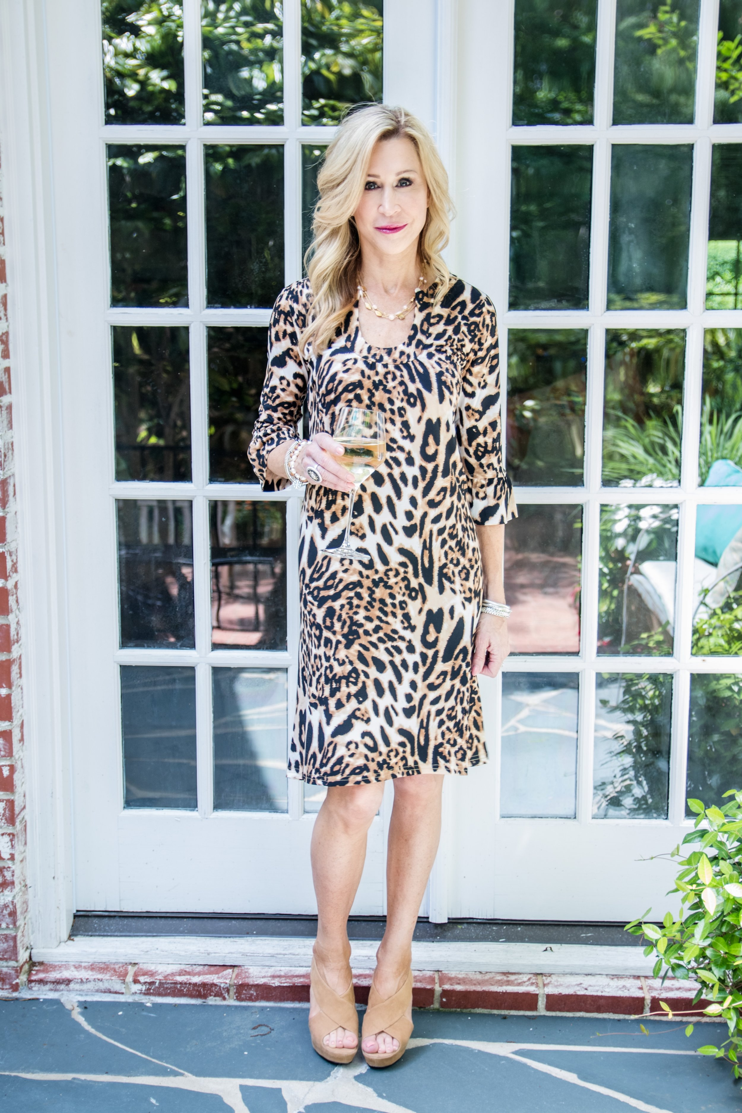 Julie Miles Leopard Dress - Crazy Blonde Style