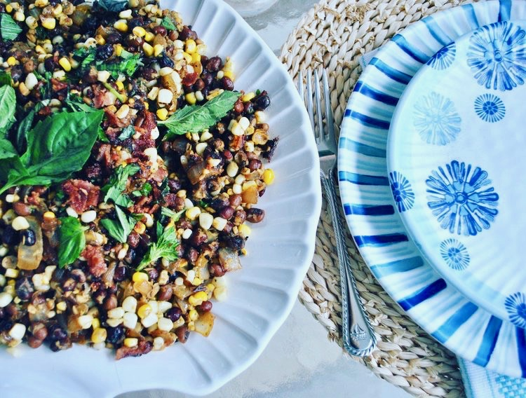 Field Pea, Corn and Bacon Salad