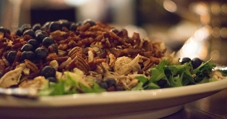 Smoked Chicken Salad with Blueberry Vinaigrette
