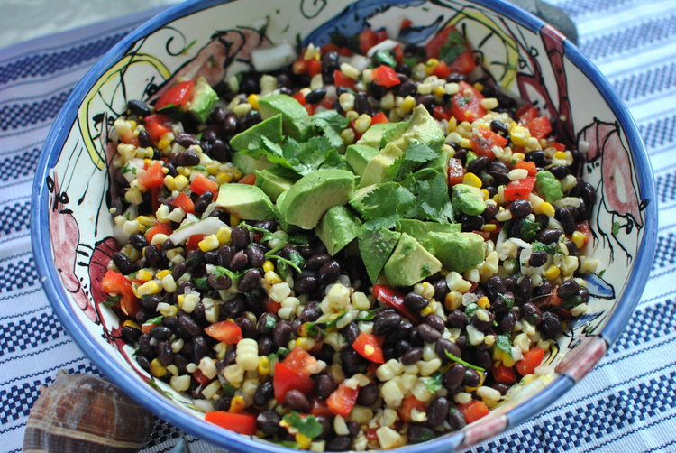 Black Bean and Grilled Corn Salad with Lime Vinaigrette