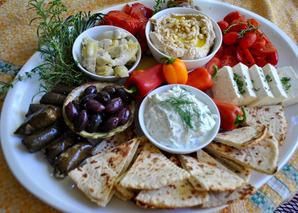 Mezze Platter with Thyme & Roasted Peppers