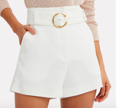 A.L.C. Clive Belted Shorts -