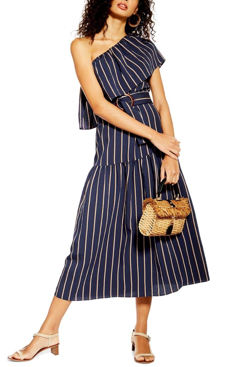 TopShop One Shoulder Midi Dress - $95