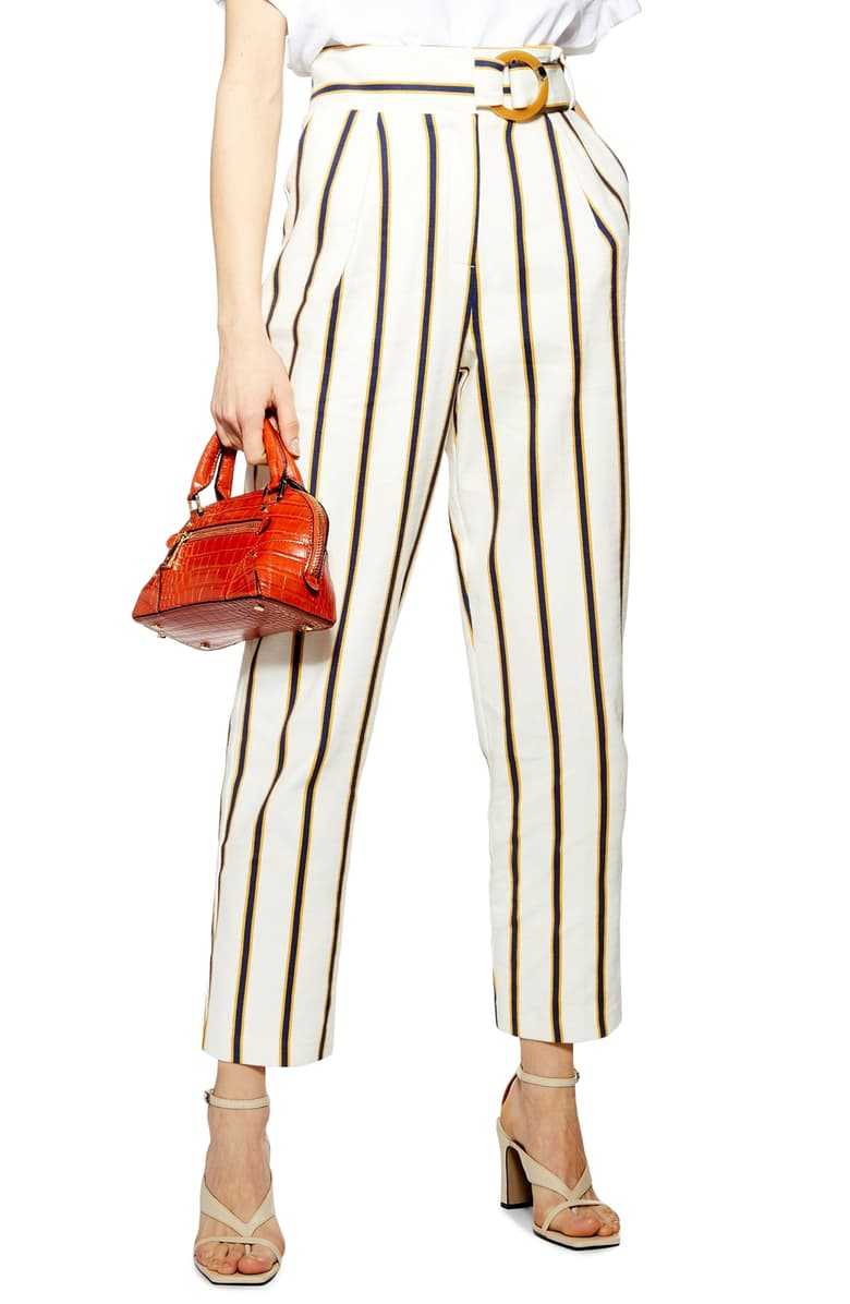 Stripe Peg Trouser - $60